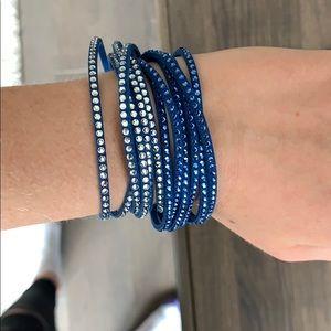 Swarovski Crystal Blue Wraparound Bracelet